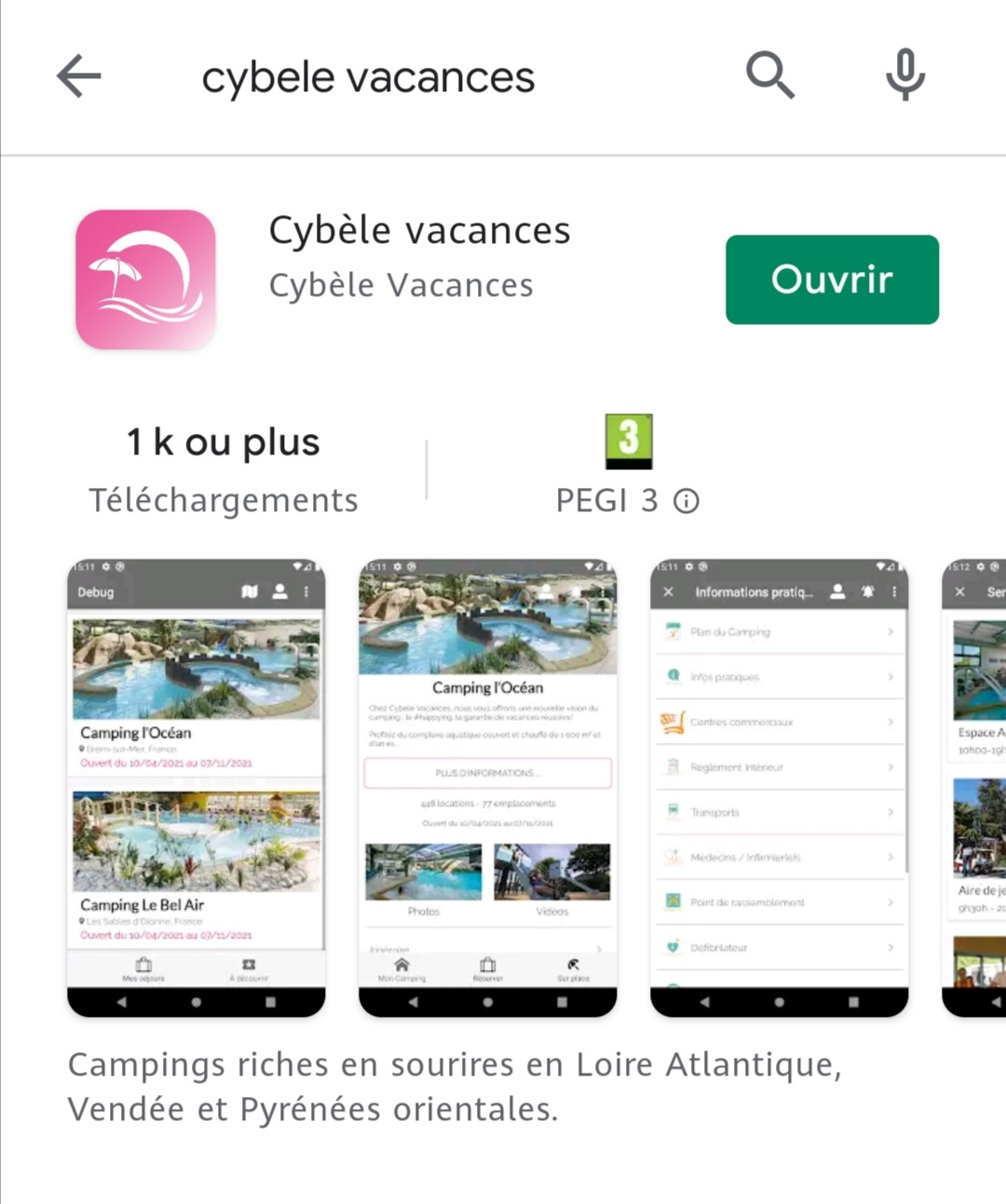 campings cybele vacances